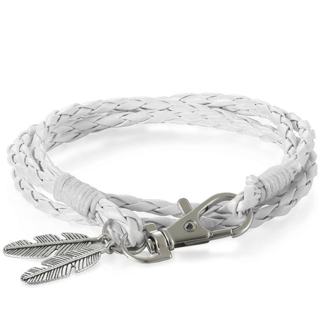The Leather Feather Bracelet