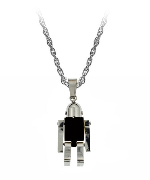 The Robot Necklace in Black