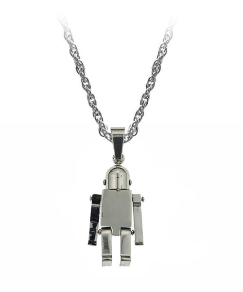 The Robot Necklace in Silver