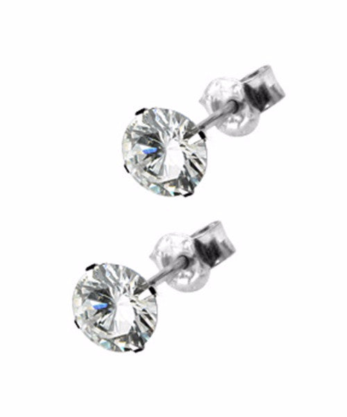 The Diamond Stud Earrings in Silver