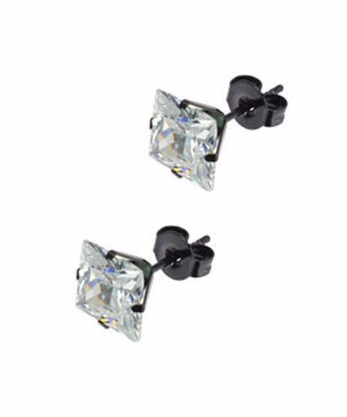 The Diamond Dealer Earrings in Black