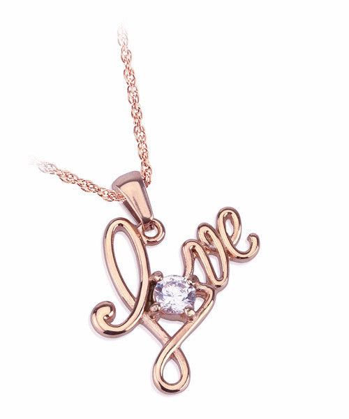 The Love Stud Necklace in Rose Gold