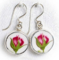 Royal Albert Old Country Roses Sterling Earrings