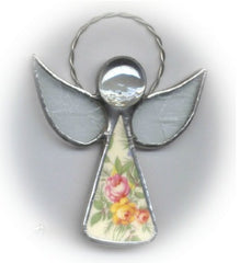 Broken China Jewelry Angel Benefit Ornament