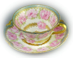 China Tea Cup with Roses and Gold