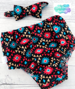 Tribal Aztec Baby Cake Smash Outfit / First Birthday Set
