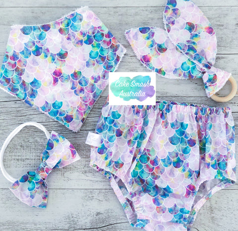 Mermaid Scales Baby Cake Smash Outfit