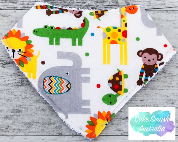 Baby Bandana Bib Animal Jam White