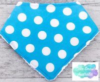 Baby Bandana Bib Bright Blue Dot