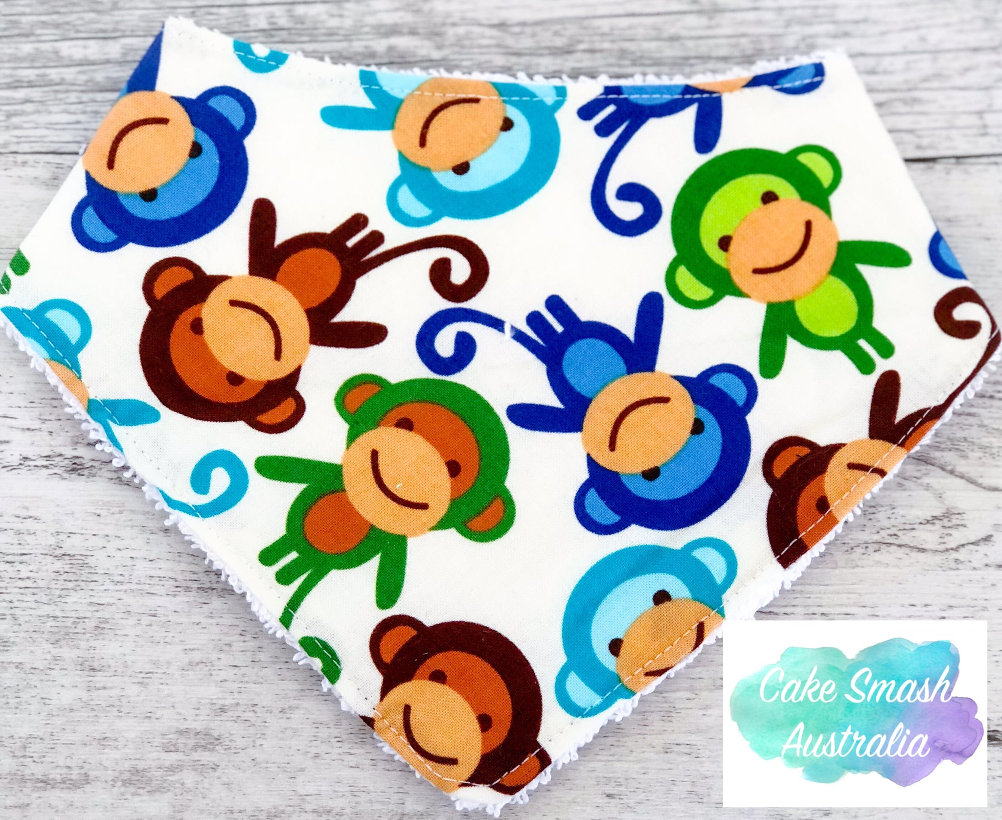 Baby Bandana Bib Mini Monkey