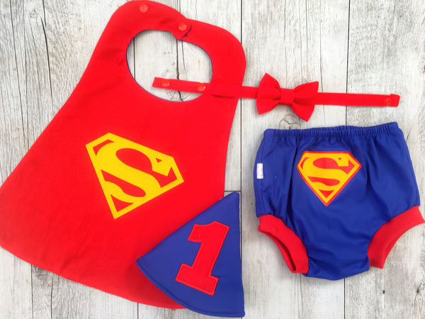 Superman Cape Combo Cake Smash Set