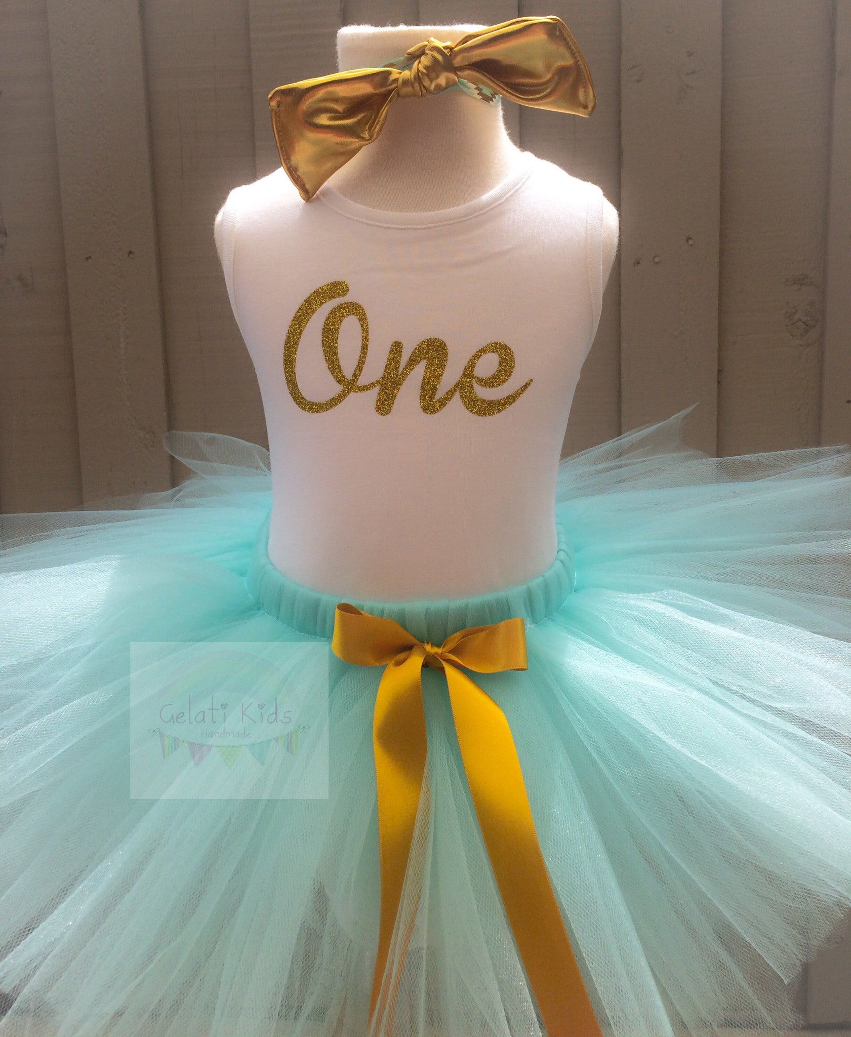 Mint Tutu 3 PC Cake Smash Combo