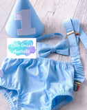 Baby Cake Smash / First Birthday Outfit / Baby Blue