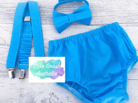 Baby Cake Smash / First Birthday Outfit / Bright Blue