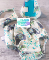 Baby Cake Smash / First Birthday Outfit / Elephant Splash