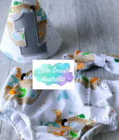 Baby Cake Smash Outfit / First Birthday Outfit / Noah's Ark