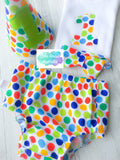 Diddly Dot Baby Cake Smash Set / First Birthday Outfit
