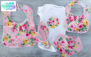 Ruru Pink Girls Floral Gift Set / Baby Shower / New Arrival