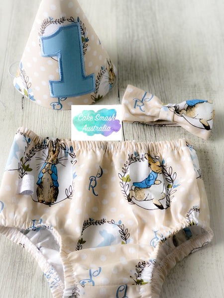 Baby Cake Smash Outfit / First Birthday Outfit / Peter Rabbit