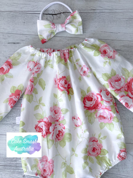 Baby Cake Smash Outfit / First Birthday Outfit / Lulu Roses L/S Romper