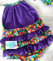 Baby Cake Smash Outfit / First Birthday / Ruffle Romper / Very Hungry Caterpillar