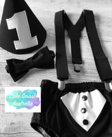 Tuxedo Style 4 Pc Boys Cake Smash Set