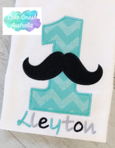 Baby Cake Smash / First Birthday / Photography Prop / Moustache One