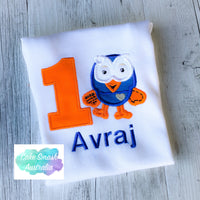 Friendly Owl Hoot Inspired Baby Cake Smash Romper