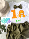 Baby Cake Smash / First Birthday Outfit / Safari
