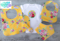 Flower Sugar Yellow Girls Gift Set / Baby Shower / New Arrival