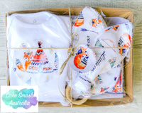 Newborn Gift Set / Baby Shower Gift / Woodland Tribal Fox