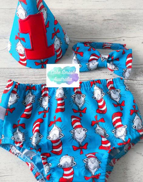 Baby Cake Smash / First Birthday Outfit / Cat In The Hat