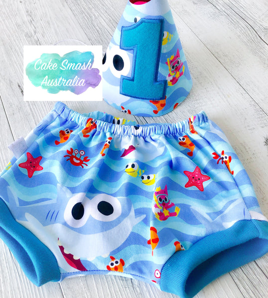 Baby Cake Smash / First Birthday Outfit / Photography Prop / Baby Shark