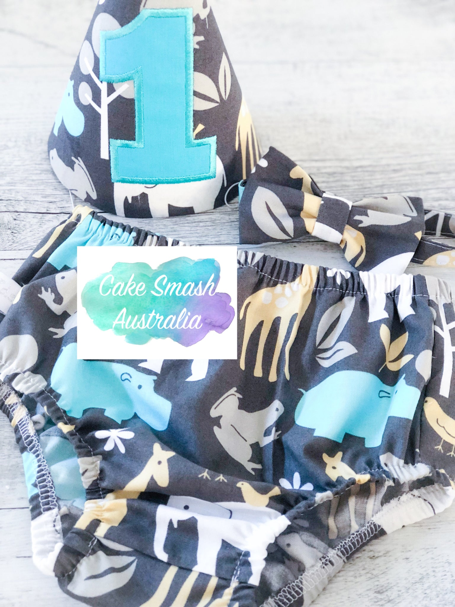 Baby Cake Smash / First Birthday Outfit / Zoology Animals Sea