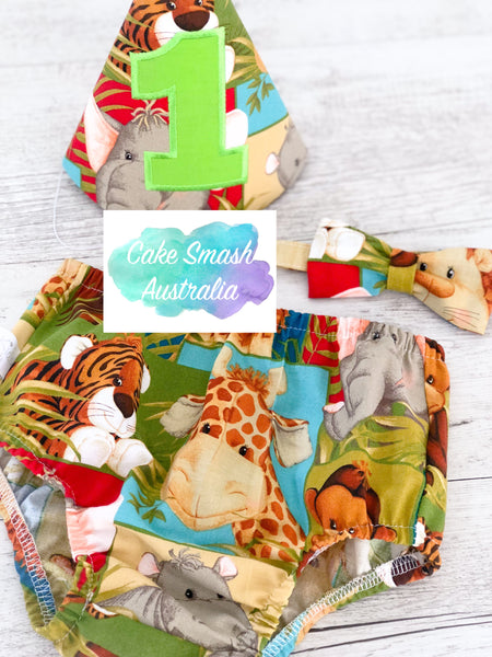 Baby Cake Smash / First Birthday Outfit / Jungle Babies