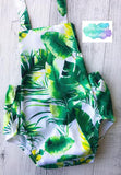 Baby Cake Smash Outfit / First Birthday Outfit / Tropical Palm
