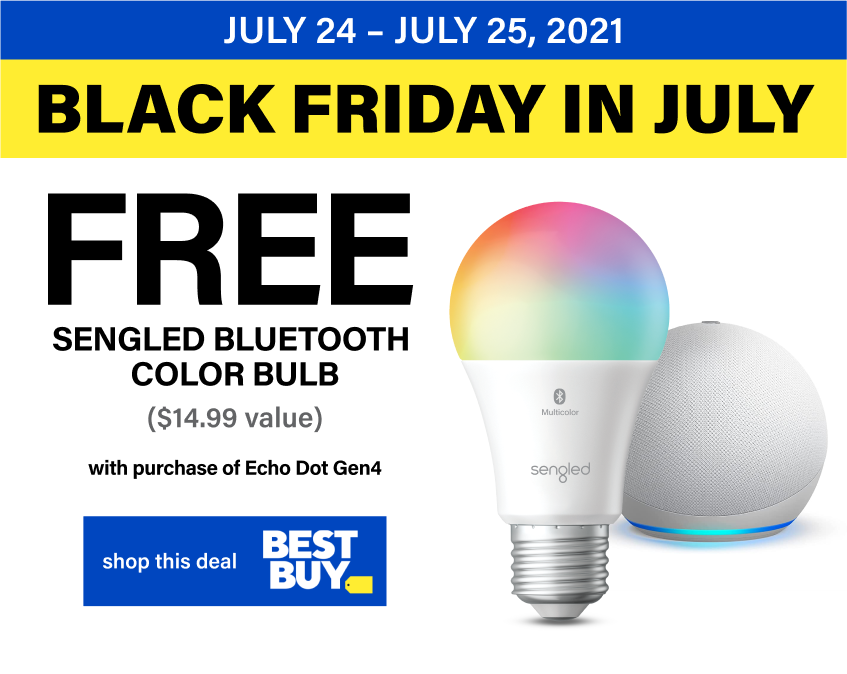 Free Sengled Bluetooth Multicolor Bulb with Echo Dot Gen 4 Purchase