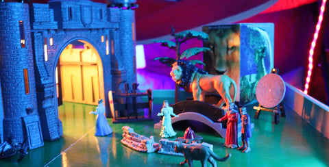 smart led multicolor lights and the castle