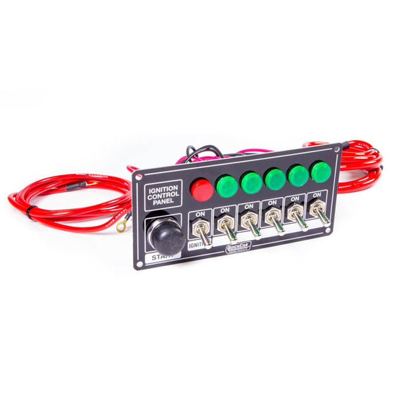 QuickCar 50-866 - Switch Panel, 6 Toggle/1 Momentary + Lights