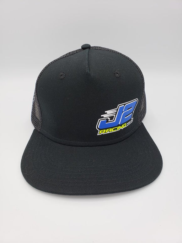 J2Racing Printed Trucker Snapback - Black/Black