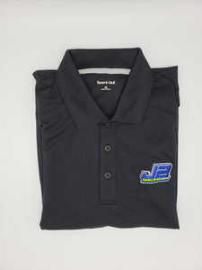J2Racing Embroidered Dri-Fit Sport-Tek Polo Shirts - Black