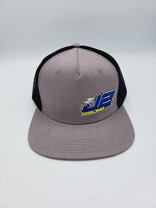 J2Racing Printed Trucker Snapback - Grey/Black