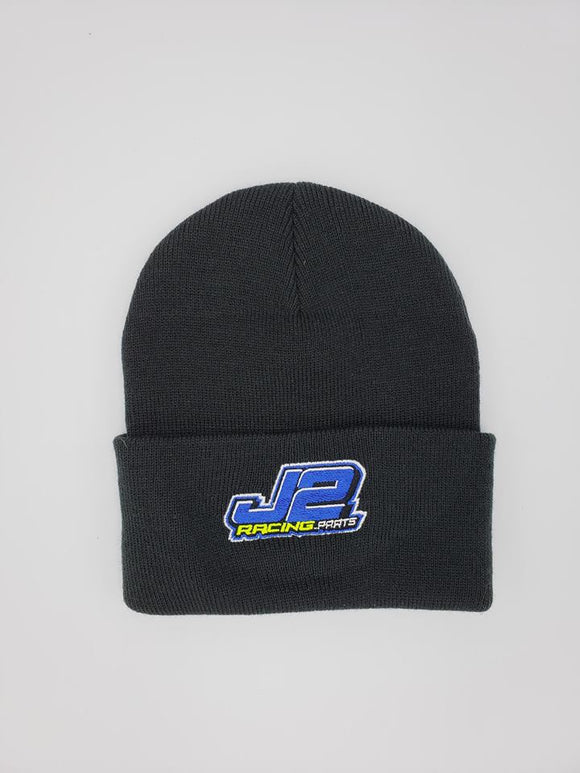 J2Racing Embroidered Cuffed Beanie - Black