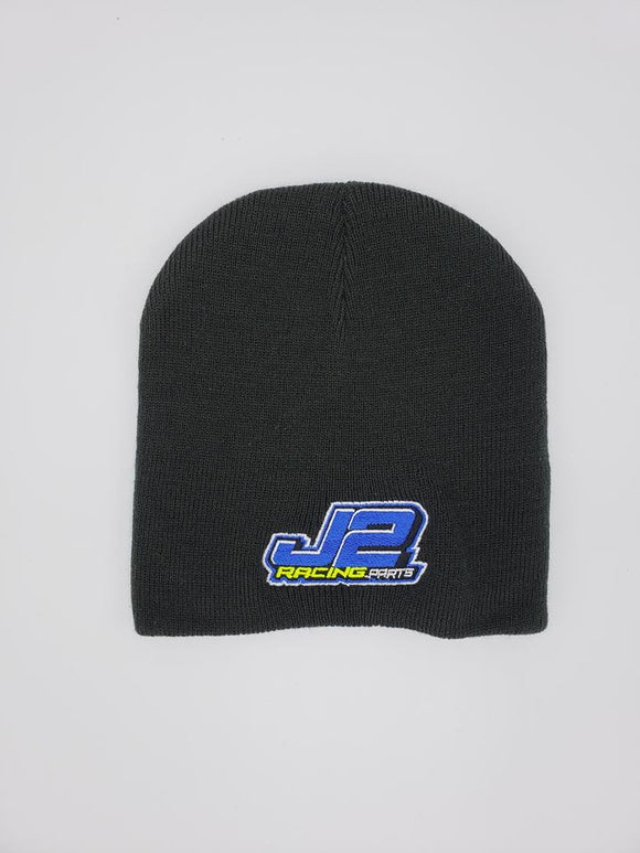 J2Racing Embroidered Skull Cap Beanie - Black