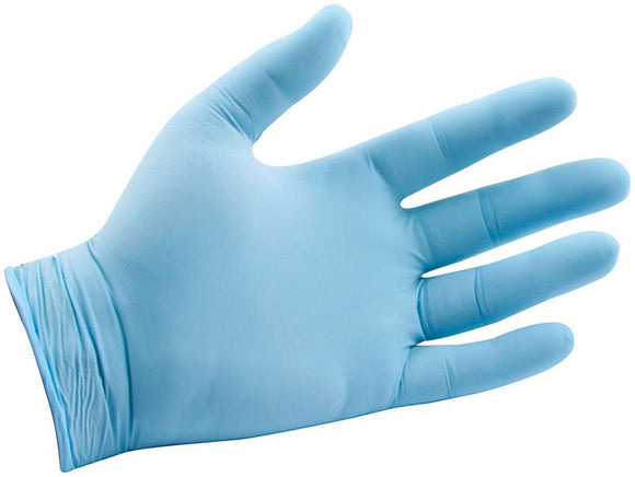 Blue Nitrile Gloves Med General Use