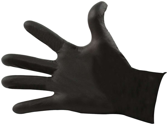 Black Nitrile Gloves XL Chemical Resistant