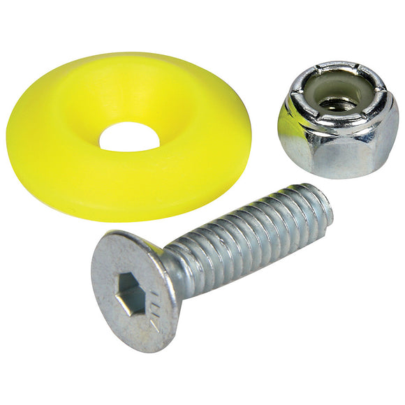 Countersunk Bolt Kit Fluorescent Yellow 50pk