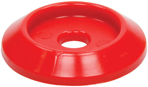 Body Bolt Washer Plastic Red 50pk