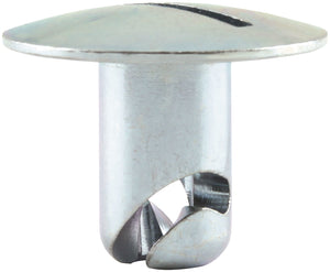 O/S Oval Hd Fasteners 7/16 .500 200pk Steel