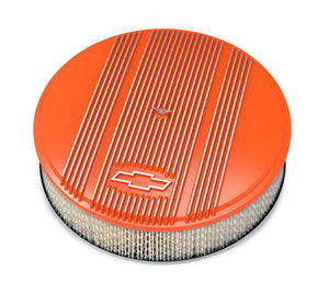 14 x 3 Air Cleaner Finned Bowtie Orange